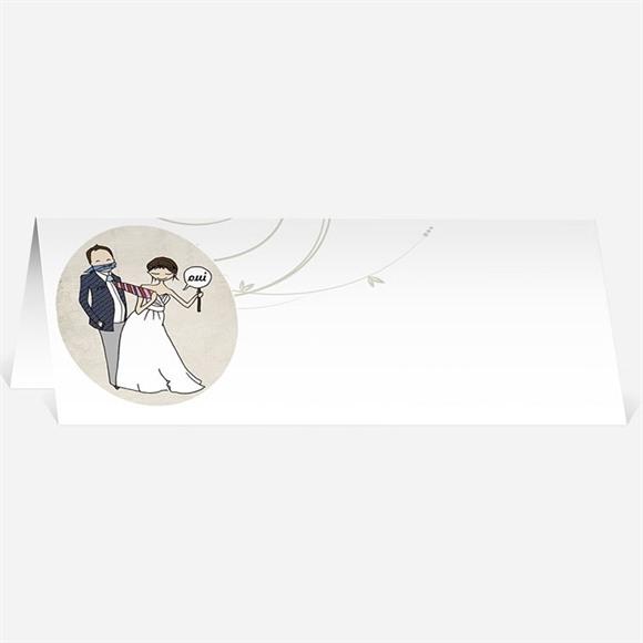 Marque-place mariage Illustrations Humour original réf.N440244