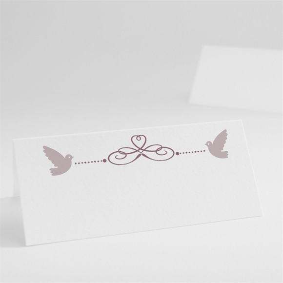 Marque-place baptême Petit damier violet réf.N440247
