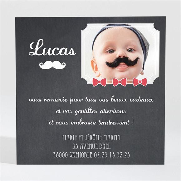Remerciement naissance Petite Moustache originale réf.N300170