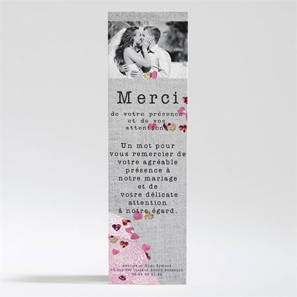Remerciement mariage Bouquet de fleurs et coeurs réf.N200265