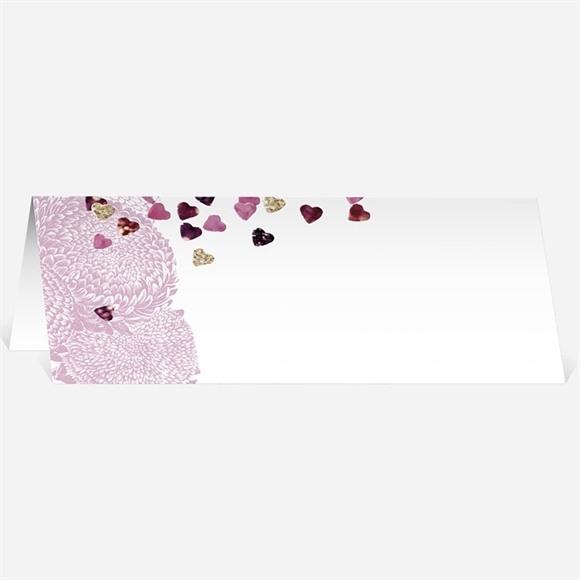 Marque-place mariage Bouquet de fleurs et coeurs réf.N440249