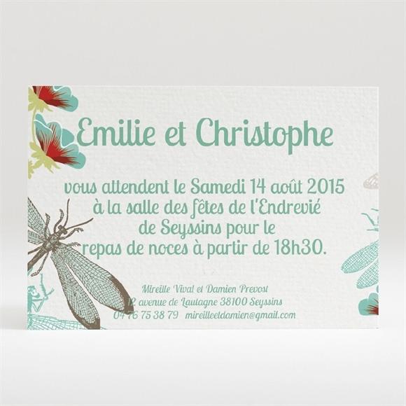 Carton d'invitation mariage La corbeille des mariés réf.N120217