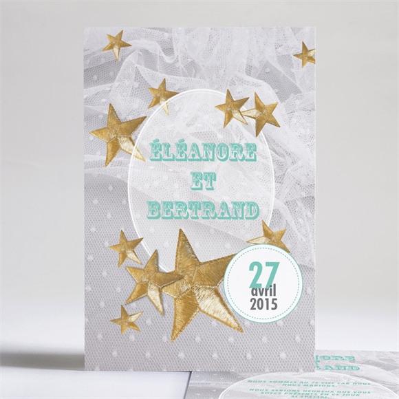 Faire-part mariage Féerie d'étoiles réf.N24144