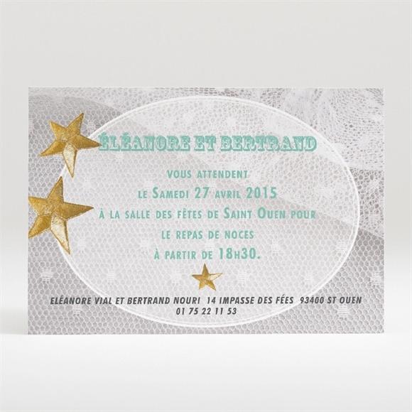 Carton d'invitation mariage Féerie d'étoiles réf.N120218
