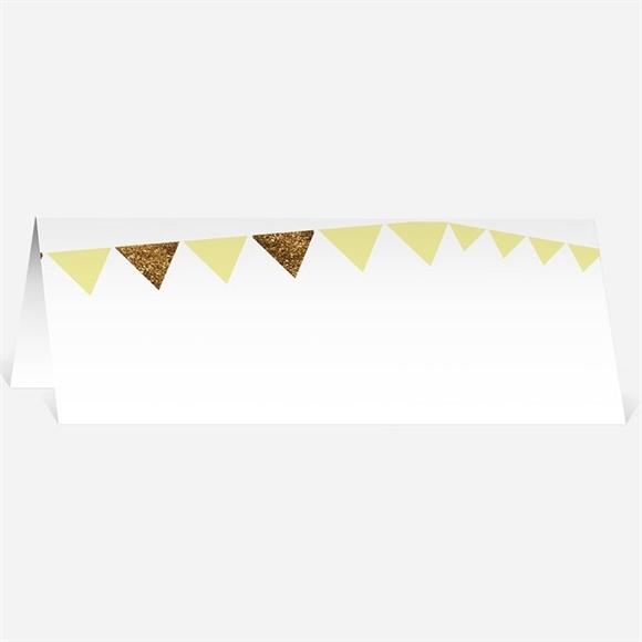 Marque-place mariage Motifs et losanges jaunes réf.N440259