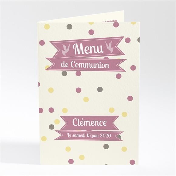Menu communion Pois de lumière réf.N401304