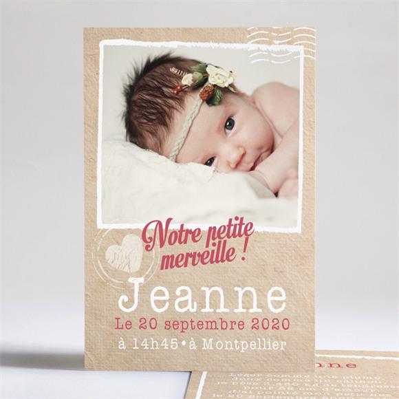 Faire-part naissance Notre fille est née réf.N24145
