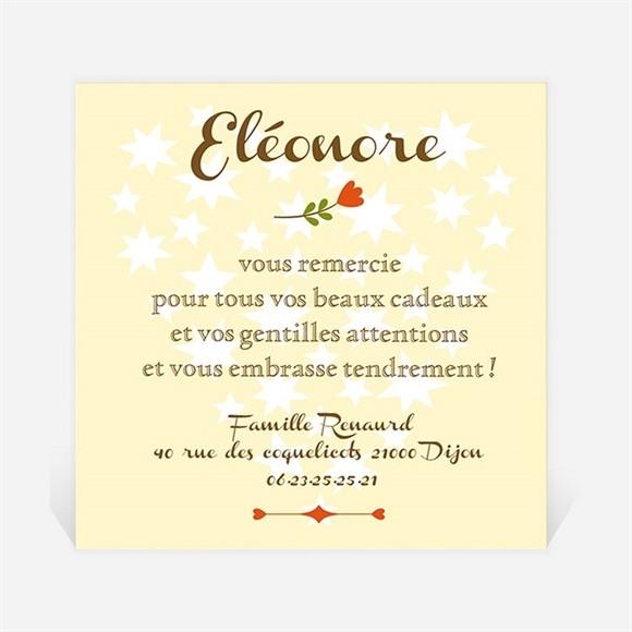 Remerciement naissance Annonce fleurie réf.N300179