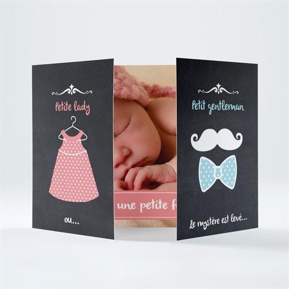 Faire-part naissance Lady ou Gentleman ? réf.N70134