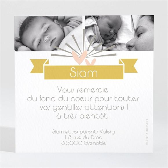 Remerciement naissance Cascade de photos réf.N300192
