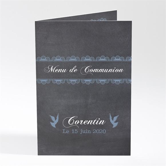 Menu communion Mon ange bleu réf.N401321