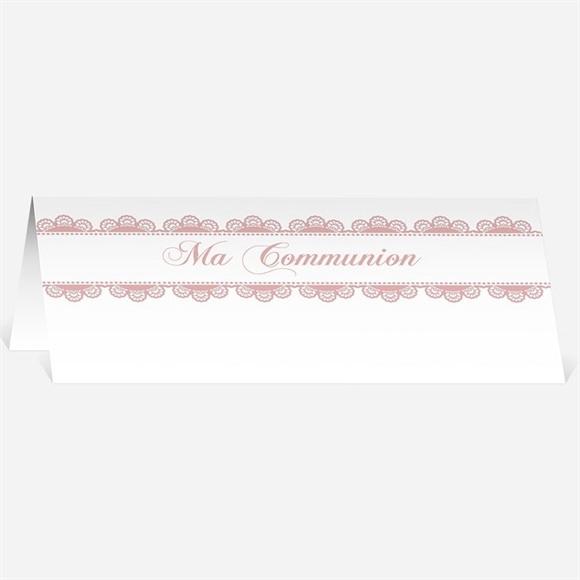 Marque-place communion Dentelle Rose réf.N440275