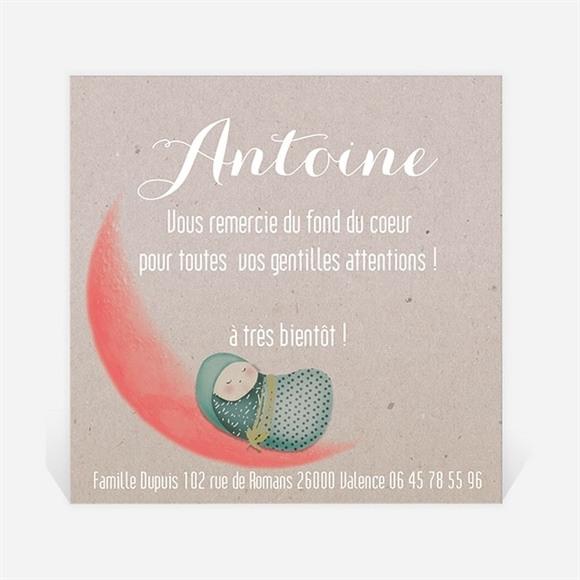 Remerciement naissance Bercé au Clair de Lune réf.N300213