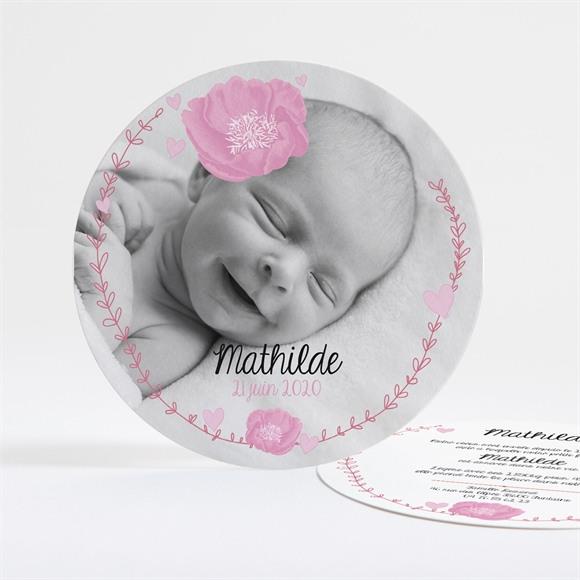 Faire-part naissance Bébé fleuri réf.N32110