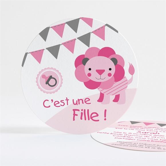 Faire-part naissance Petite Lionne illustrée réf.N32115