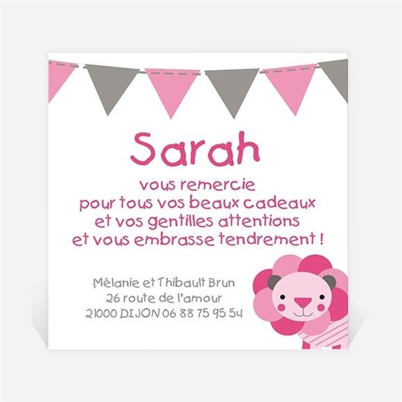 Remerciement naissance Petite Lionne illustrée réf.N300222