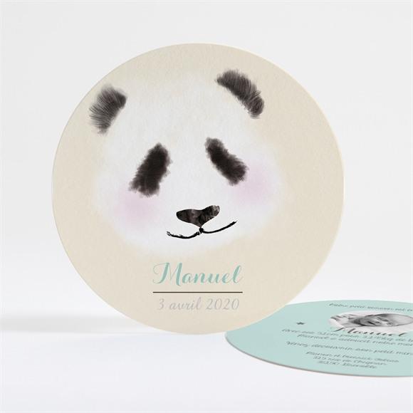 Faire-part naissance Petit Panda réf.N32116