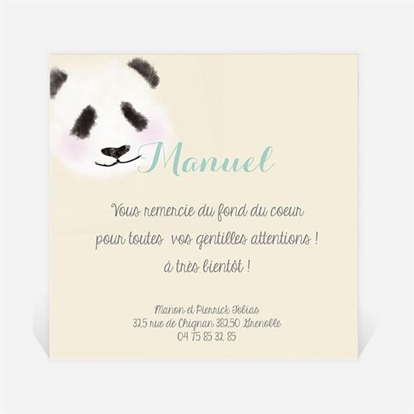 Remerciement naissance Petit Panda réf.N300223