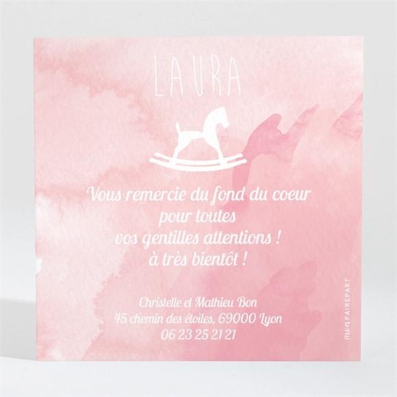 Remerciement naissance Cheval à bascule  aquarelle réf.N300232