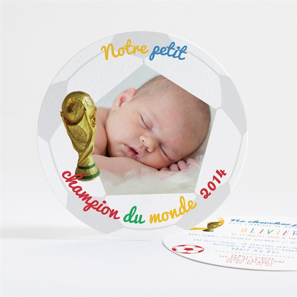 Faire-part naissance Champion du Monde réf.N32127