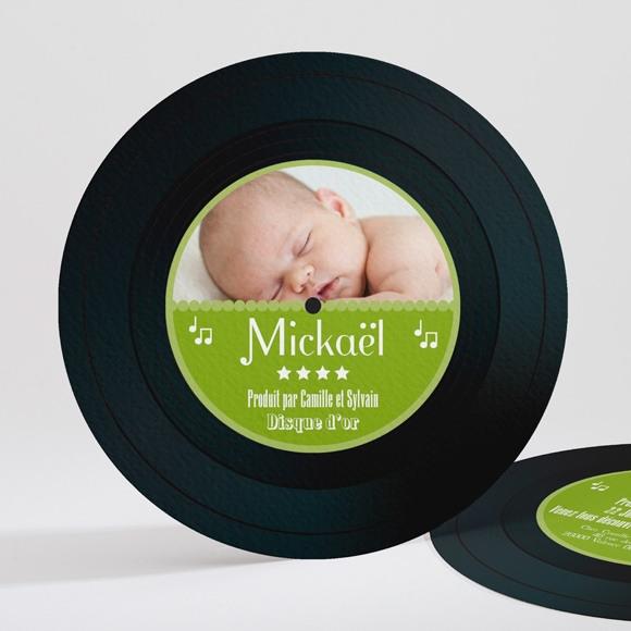 Faire-part naissance Mon disque préféré réf.N32131