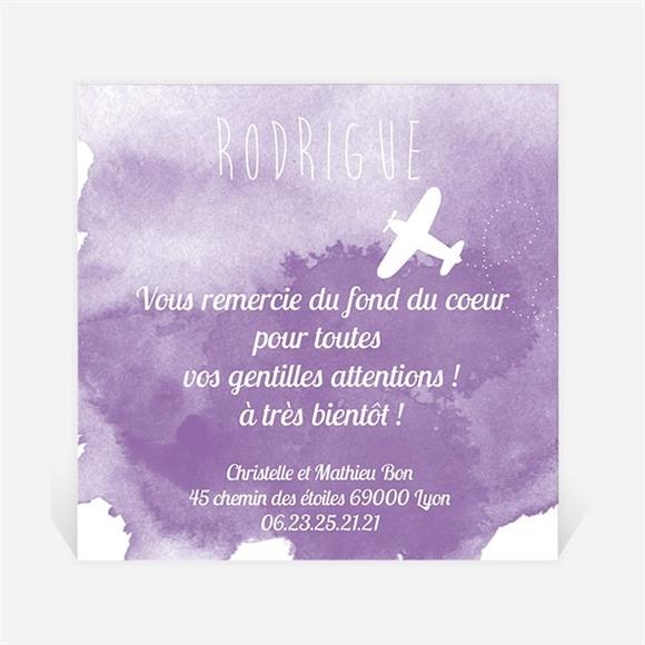 Remerciement naissance Avion en aquarelle réf.N300244