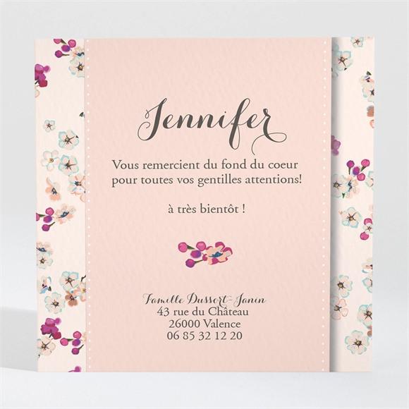 Remerciement naissance Une belle annonce fleurie réf.N300245