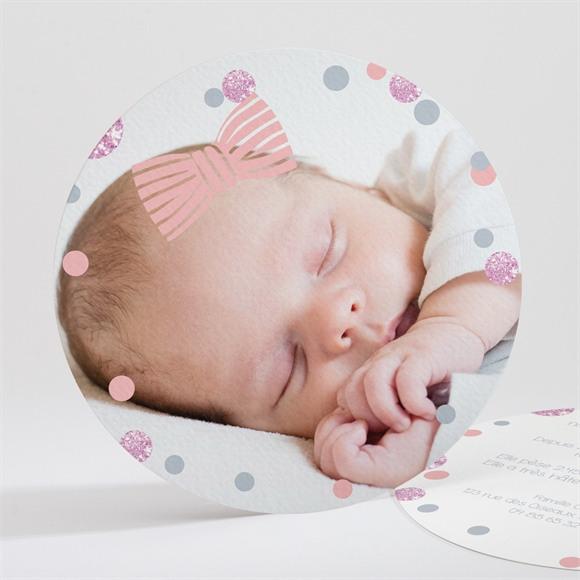 Faire-part naissance Pastilles et confettis réf.N32141