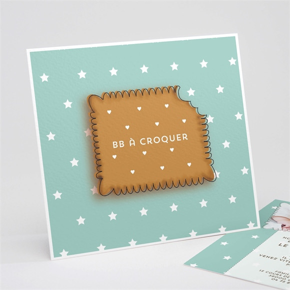 Faire-part naissance Biscuit à croquer réf.N31168