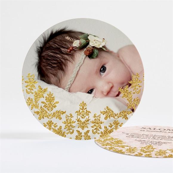 Faire-part naissance Feuillages dorés réf.N32149