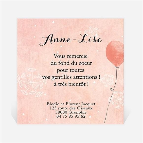 Remerciement naissance Petits ballons aquarelle réf.N300274