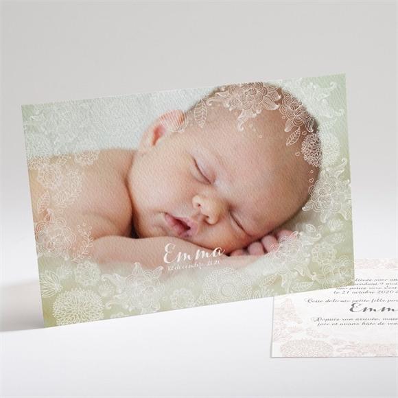 Faire-part naissance En filigrane réf.N14131