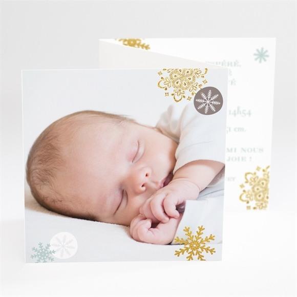 Faire-part naissance Etincellant avec photo réf.N81024