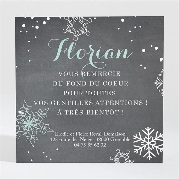 Remerciement naissance Annonce d'hiver réf.N300289