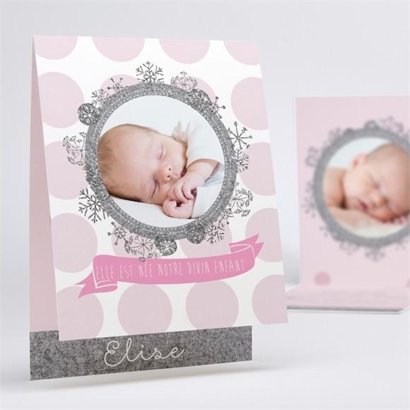 Faire-part naissance Princesse des Neiges réf.N50139