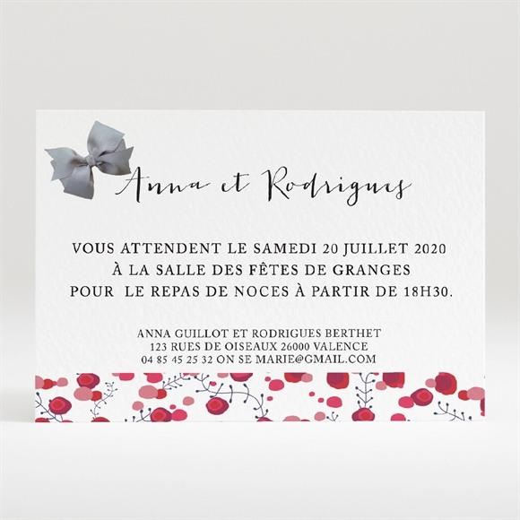 Carton d'invitation mariage Noeud et Liberty réf.N120220