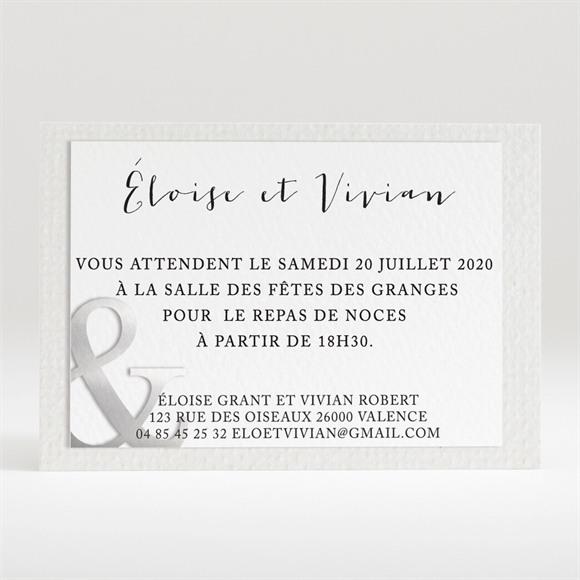 Carton d'invitation mariage Esperluette et étiquettes réf.N120221