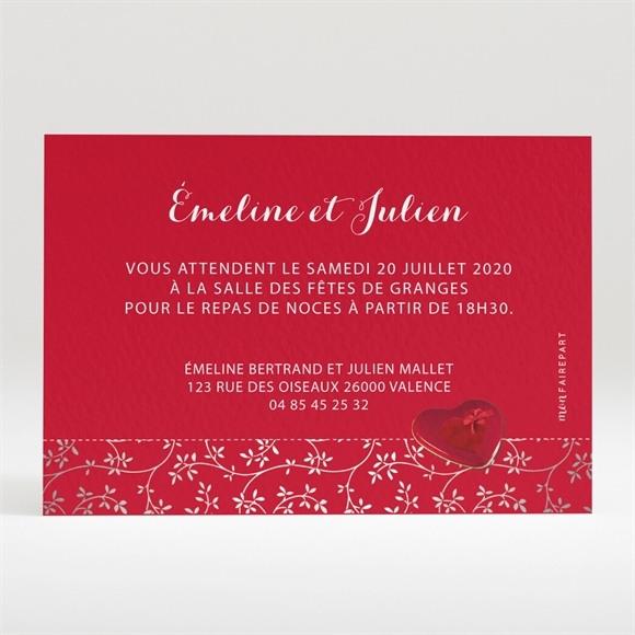Carton d'invitation mariage Aux couleurs de notre amour réf.N120222