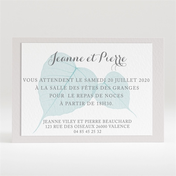 Carton d'invitation mariage Campagne chic réf.N120223