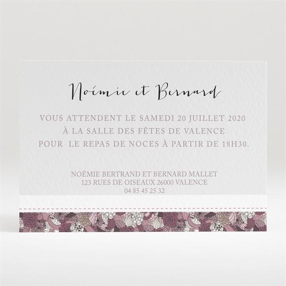 Carton d'invitation mariage Invitation fleurie réf.N120224