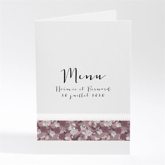 Menu mariage Invitation fleurie réf.N401340