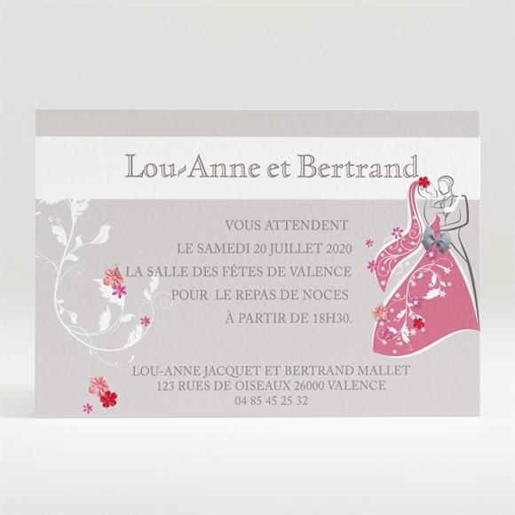 Carton d'invitation mariage Un mariage illustré réf.N120228