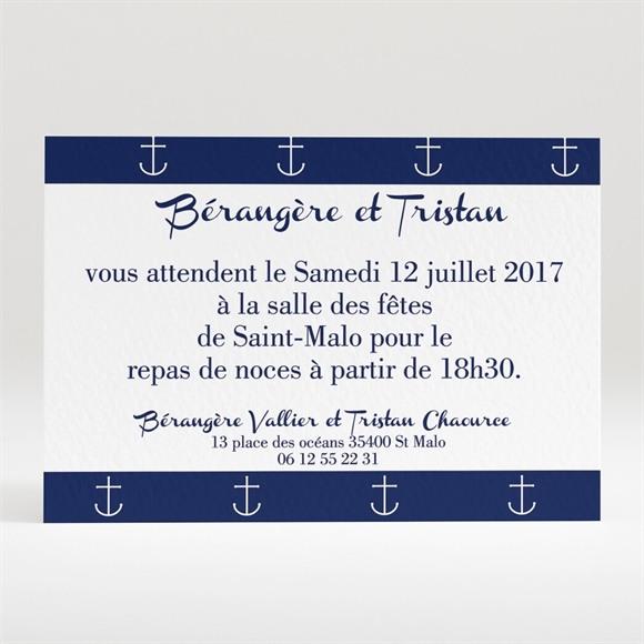 Carton d'invitation mariage Les Ancres du Mariage réf.N120230