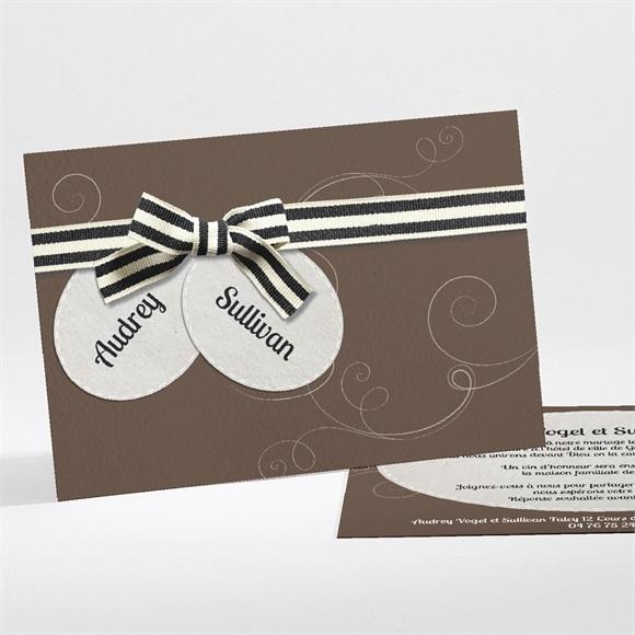 Faire-part mariage Chocolat et étiquettes réf.N11150