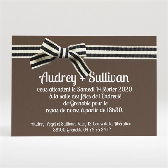 Carton d'invitation mariage Chocolat et étiquettes réf.N120231