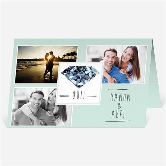 Faire-part mariage Romance à deux avec photos réf.N401717