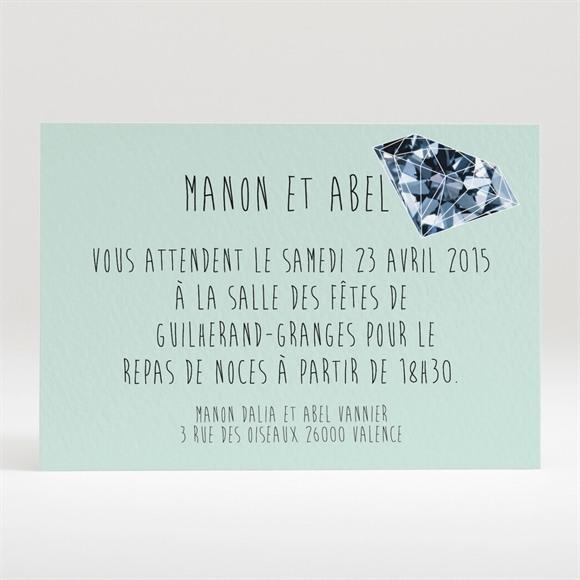 Carton d'invitation mariage Romance à deux avec photos réf.N120232