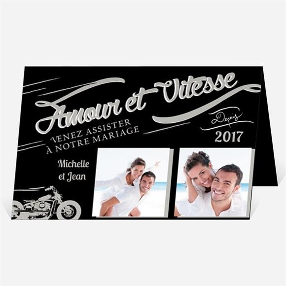 Faire-part mariage Amour et Vitesse réf.N401718