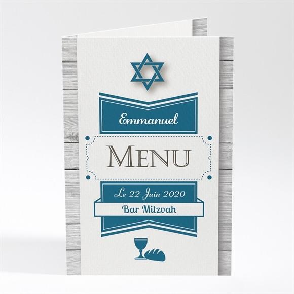 Menu bar mitzvah Evènement Etoile bleue réf.N401355