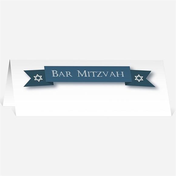 Marque-place bar mitzvah Evènement Etoile bleue réf.N440304